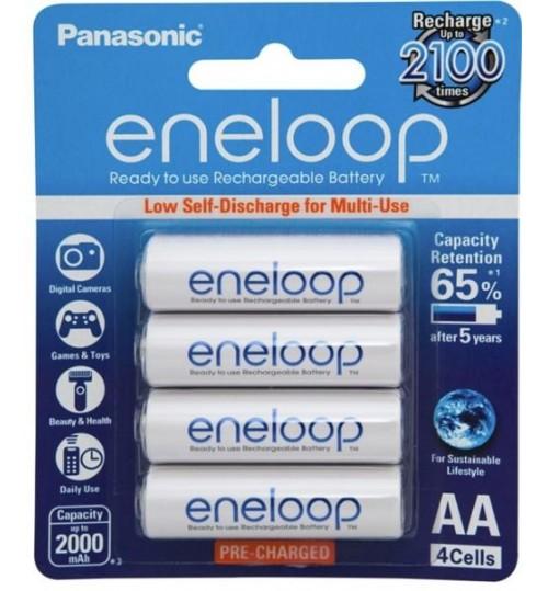 Panasonic Eneloop AA Rechargeable Battery 4 Pack