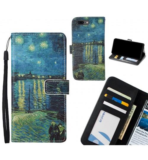 IPHONE 7 PLUS case leather wallet case van gogh painting