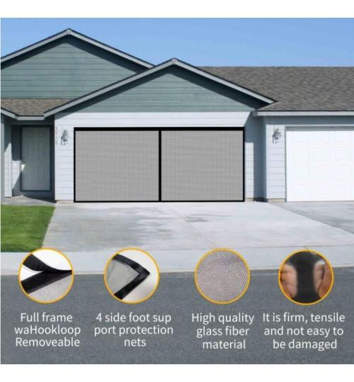 Double Garage Door Screen Net Anti Fly