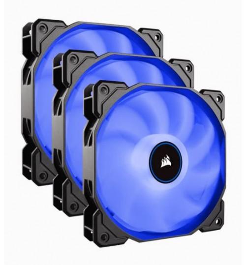 CORSAIR AF120 LED LOW NOISE COOLING FAN TRIPLE PACK - BLUE PC COOLING