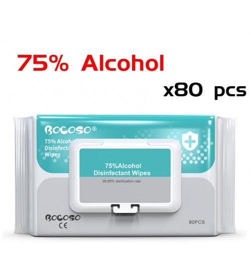 Alcohol Wipes 75% Antibacterial 80 PCS