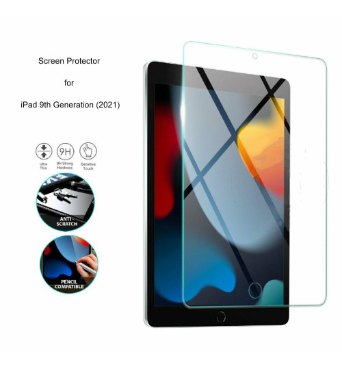 Apple iPad 10.2 Tempered Glass Screen Protector 9th Gen