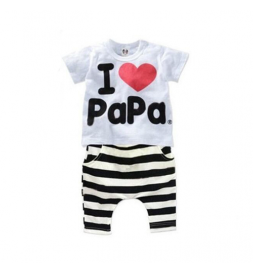 Kids Clothing 120 CM I Love Papa Children Clothing