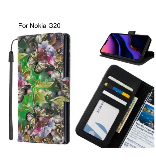 Nokia G20 Case Leather Wallet Case 3D Pattern Printed
