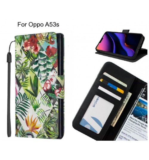 Oppo A53s Case Leather Wallet Case 3D Pattern Printed