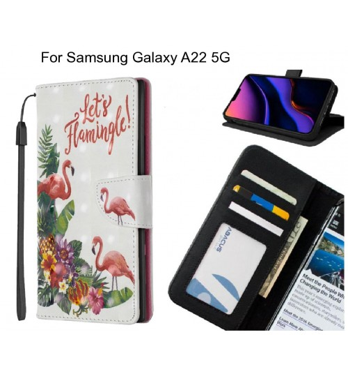 Samsung Galaxy A22 5G Case Leather Wallet Case 3D Pattern Printed