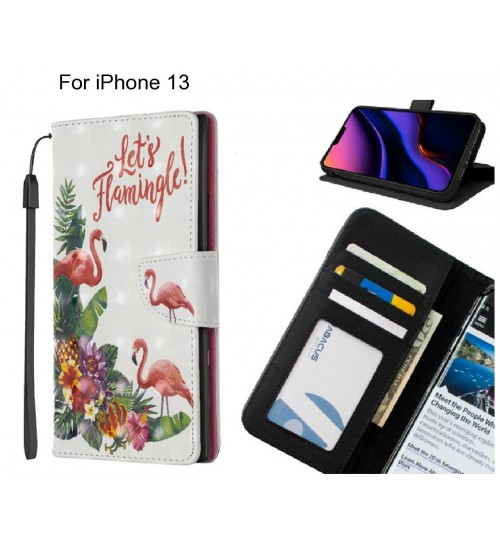 iPhone 13 Case Leather Wallet Case 3D Pattern Printed
