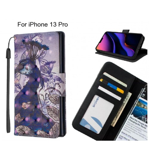 iPhone 13 Pro Case Leather Wallet Case 3D Pattern Printed