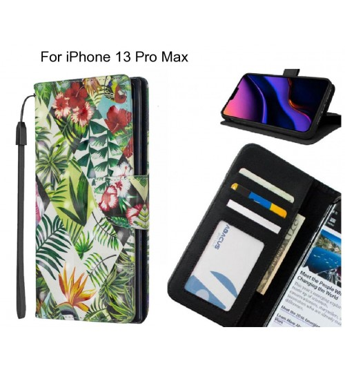 iPhone 13 Pro Max Case Leather Wallet Case 3D Pattern Printed