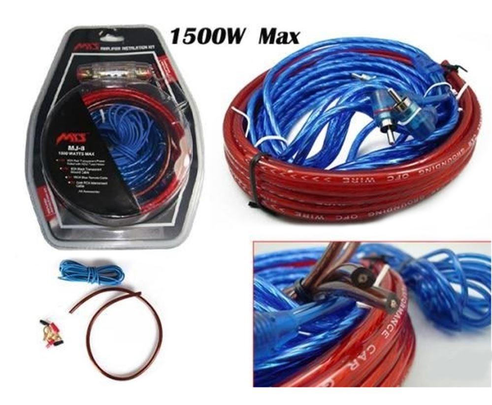 Car Electronics Amplifier Wiring Kit 1500w Audio